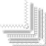 Calligraphic ram för vektorbeståndsdelar stock illustrationer