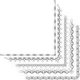 Calligraphic ram för vektorbeståndsdelar vektor illustrationer