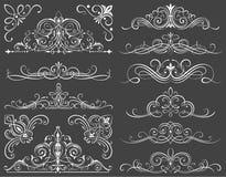 Calligraphic ramar och snirkelbeståndsdelar II Arkivfoton