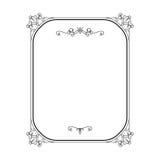 Calligraphic rektangelram för tappning på vit Royaltyfria Bilder