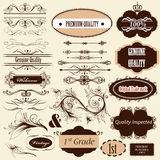 Calligraphic retro design elements and page decorations Royalty Free Stock Photos
