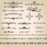 Calligraphic retro elements for page decoration. V Royalty Free Stock Image