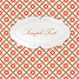 Calligraphic retro frame. Page decoration. Checkered background. Royalty Free Stock Image