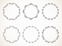 Calligraphic round frame Royalty Free Stock Photo