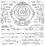Calligraphic Royal Design Elements. Frames Stock Images