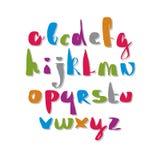 Calligraphic script font. Stock Images