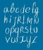 Calligraphic script font. Stock Photo