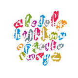 Calligraphic script font, vector alphabet letters. Royalty Free Stock Image