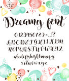 Calligraphic script letters Royalty Free Stock Photo