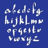 Calligraphic script, vector alphabet letters set. Stock Photos