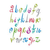 Calligraphic script. Calligraphic script, vector alphabet letters set, vector font Stock Photography