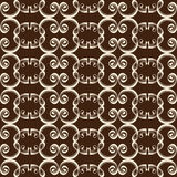 Calligraphic seamless background Stock Photos