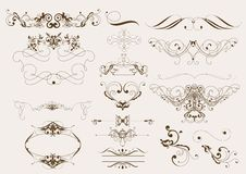 calligraphic sida för garneringdesignelement Vektor Illustrationer