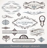 calligraphic sida för dekordesignelement Royaltyfri Foto