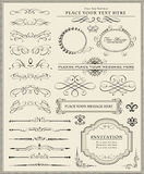 calligraphic sida för garneringdesignelement Arkivbilder