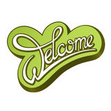 Calligraphic sign Welcome. Calligraphic handwritten sign Welcome Royalty Free Stock Photos