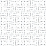 Calligraphic Strokes Seamless Pattern. Regular trellis pattern of curved calligraphic strokes. Neutral white and grey ornamental background. Vector seamless Royalty Free Stock Photos