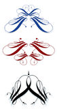 Calligraphic svignettes Stock Images