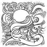 Calligraphic swirling decorative elements Stock Photos