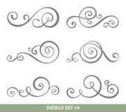 Calligraphic swirls collection Royalty Free Stock Photo