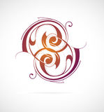 Calligraphic swirls Stock Photography