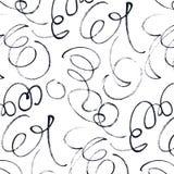Calligraphic swirls pattern Stock Photography