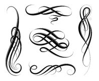 Calligraphic swirls Stock Photo