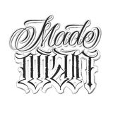 Calligraphic tattoo set. Handmade tattoo lettering and decorative elements Royalty Free Stock Image
