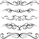 calligraphic tatuering Royaltyfri Fotografi