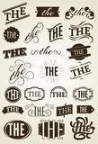 Calligraphic Text decoration set. Royalty Free Stock Images