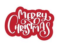 Calligraphic text Merry Christmas and a flourish. Vector illustration Stock Images