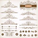 Calligraphic uppsättning för designbeståndsdelvektor Royaltyfria Bilder