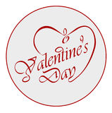 Calligraphic Valentine's Day. Stock Photo