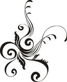 Calligraphic vector ornament Stock Image