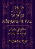 Calligraphic vector script font. Handwritten brush style modern Royalty Free Stock Images