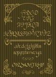 Calligraphic vector script font. Handwritten brush style modern Stock Image