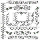 Calligraphic vector set Royalty Free Stock Photos