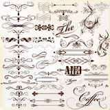 Calligraphic Vector Vintage Design Elements And Page Decorations Stock Photo