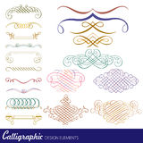 calligraphic vektor för designelementbild Royaltyfri Bild