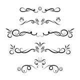 calligraphic vektor för designelementbild Royaltyfria Bilder