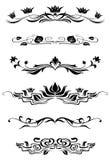 calligraphic vektor för designelementbild Royaltyfri Fotografi