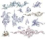 calligraphic vektor för designelementbild Royaltyfria Foton