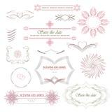 Calligraphic vignette Stock Images