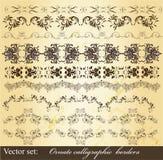 Calligraphic vintage borders set Stock Photography