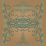 Calligraphic vintage design element Royalty Free Stock Photography