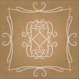 Calligraphic vintage design element Royalty Free Stock Image