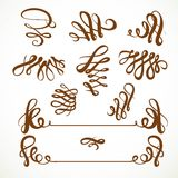 Calligraphic vintage elements set 1  Royalty Free Stock Photos