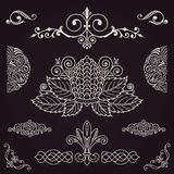 Calligraphic vintage elements. Vector baroque set. Design icons Royalty Free Stock Photo