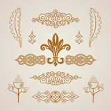 Calligraphic vintage elements. Vector baroque set. Design icons Stock Photos