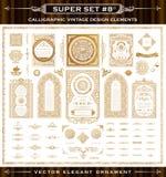 Calligraphic vintage elements. Vector baroque set Stock Images